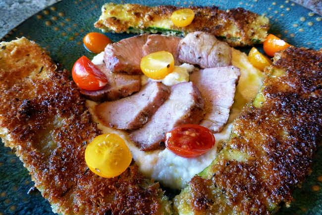 use pork tenderloin, with is simply dry rubbed with a flavorful ...